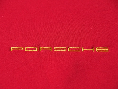 Porsche Name Embroidery